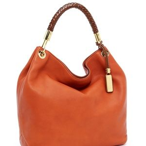 Michael Kors Skorpios Large Shoulder Bag, Tangerin